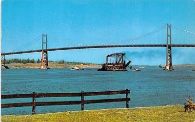 Cornwall Massena International Bridge Ogdensburg, New York Postcard