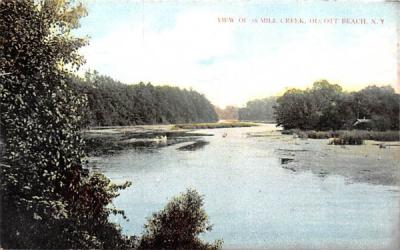 18 Mile Creek Olcott Beach, New York Postcard