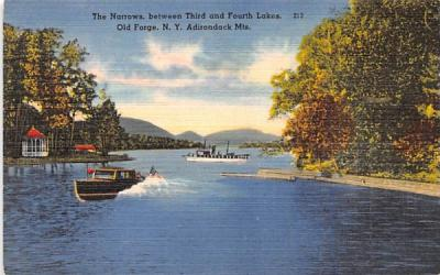 The Narrows Old Forge, New York Postcard