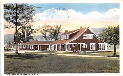 Country Club Oneonta, New York Postcard