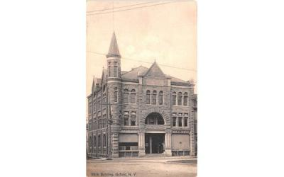 Bank Building Oxford, New York Postcard