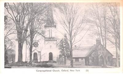 Congregational Church Oxford, New York Postcard