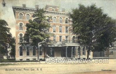 Benham Hotel - Penn Yan, New York NY Postcard