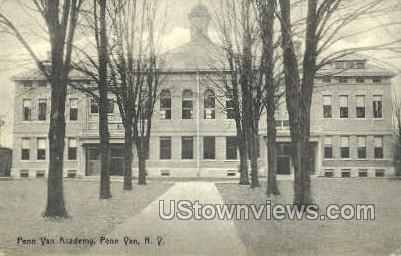 Penn Yan Academy - New York NY Postcard