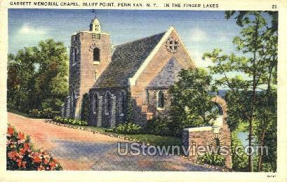 Garret Memorial Chapel - Penn Yan, New York NY Postcard