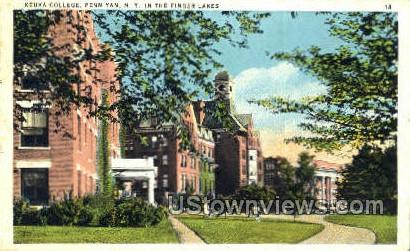 Keuka College - Penn Yan, New York NY Postcard