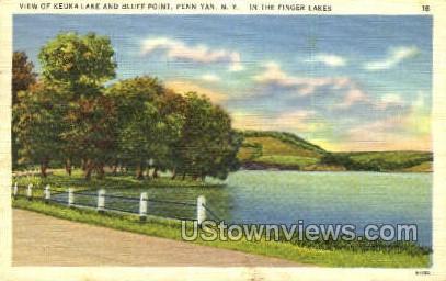 Keuka Lake, Bluff Point - Penn Yan, New York NY Postcard