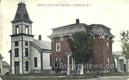 Baptist Church & Parsonage - Parishville, New York NY Postcard