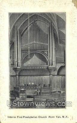 First Presbyterian Church - Penn Yan, New York NY Postcard