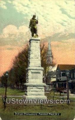 Indian Monument - Painted Post, New York NY Postcard