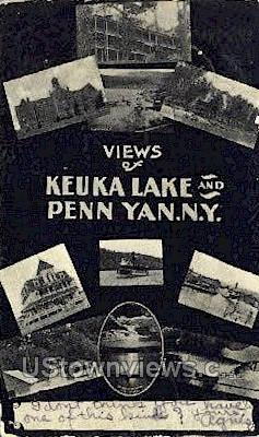 Keuka Lake - Penn Yan, New York NY Postcard