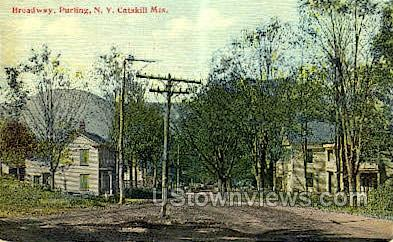 Broadway, Catskill Mtns. - Purling, New York NY Postcard