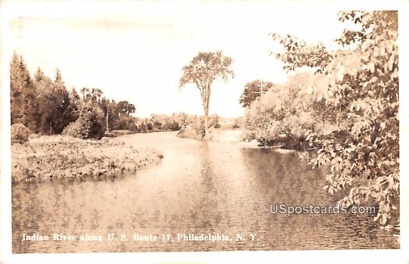Indian River - Philadelphia, New York NY Postcard