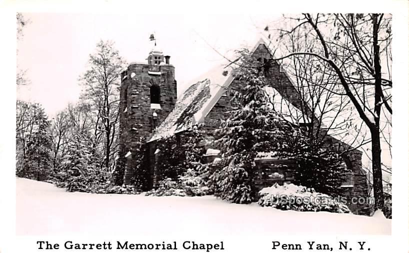 Garrett Memorial Chapel - Penn Yan, New York NY Postcard
