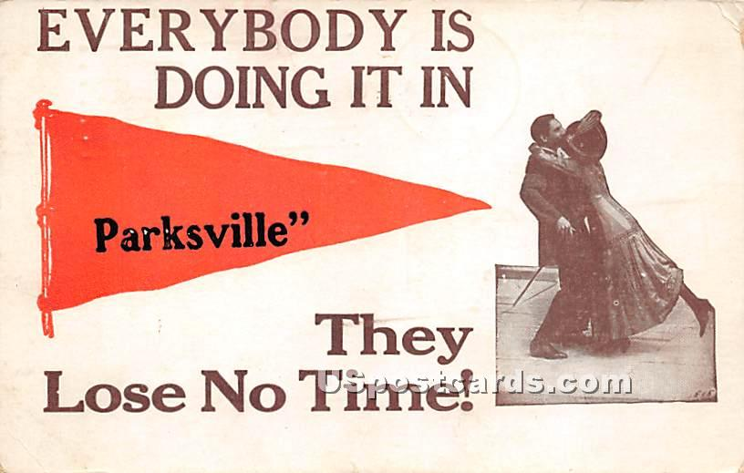 Everybody is doing it in - Parksville, New York NY Postcard