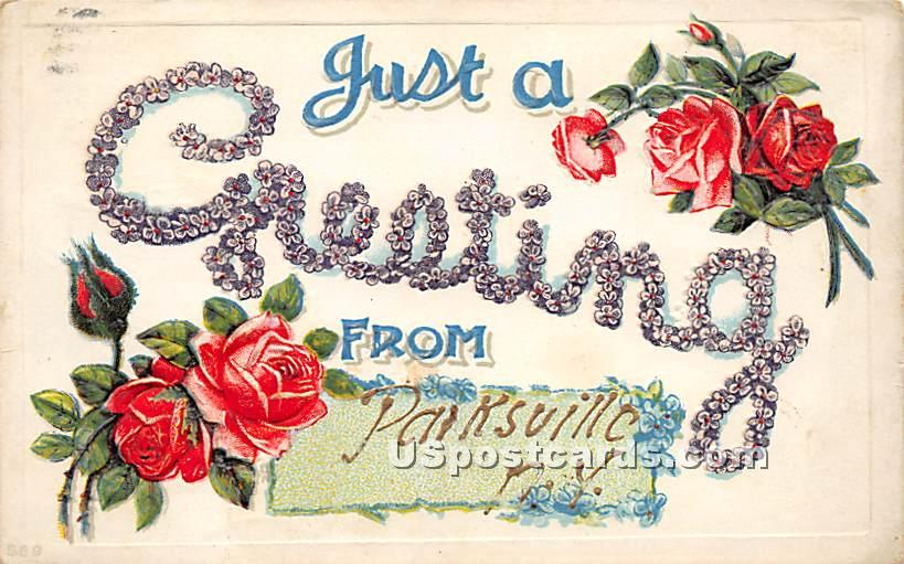 Greetings from - Parksville, New York NY Postcard