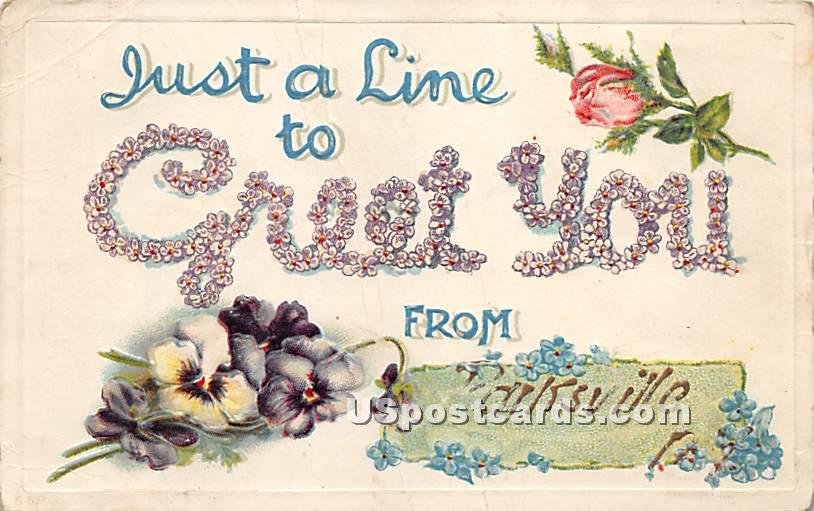Just a Line - Parksville, New York NY Postcard