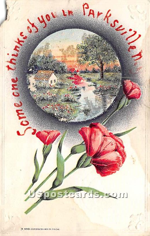 Thinking of You - Parksville, New York NY Postcard