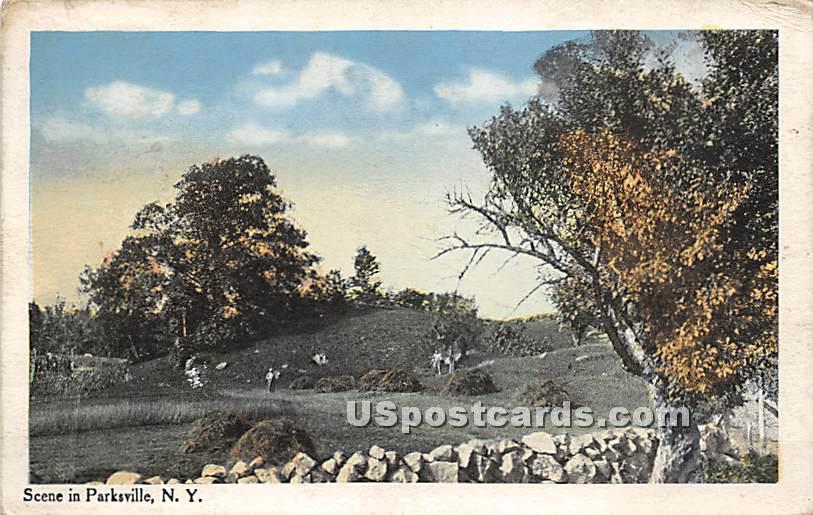 Hay Scene - Parksville, New York NY Postcard