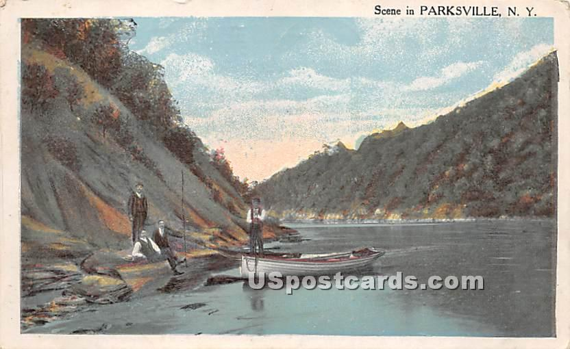 Water View - Parksville, New York NY Postcard