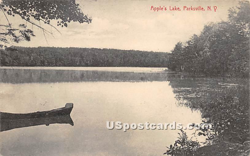 Apple's Lake - Parksville, New York NY Postcard