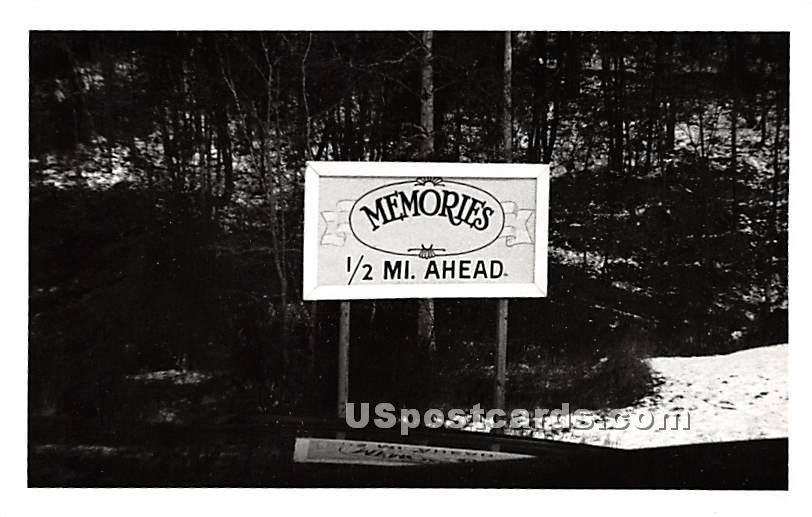 Memories Sign - Parksville, New York NY Postcard