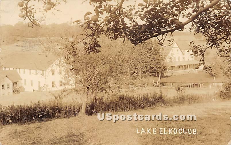 Lake Elko Club - Parksville, New York NY Postcard