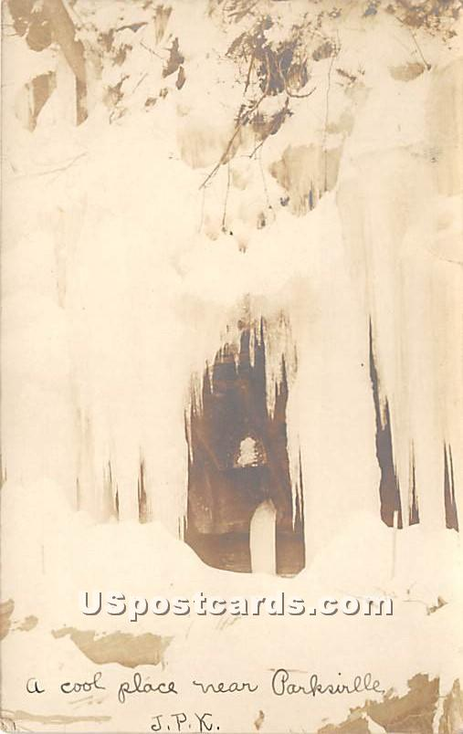 Iceicles - Parksville, New York NY Postcard