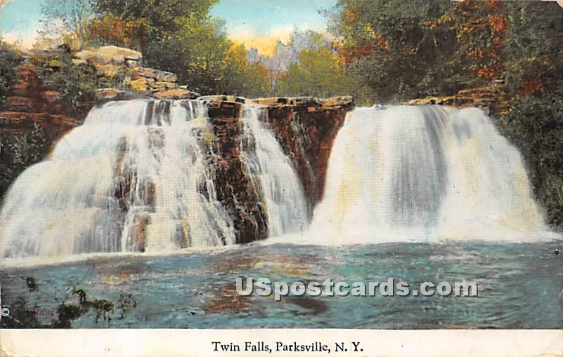 Twin Falls - Parksville, New York NY Postcard