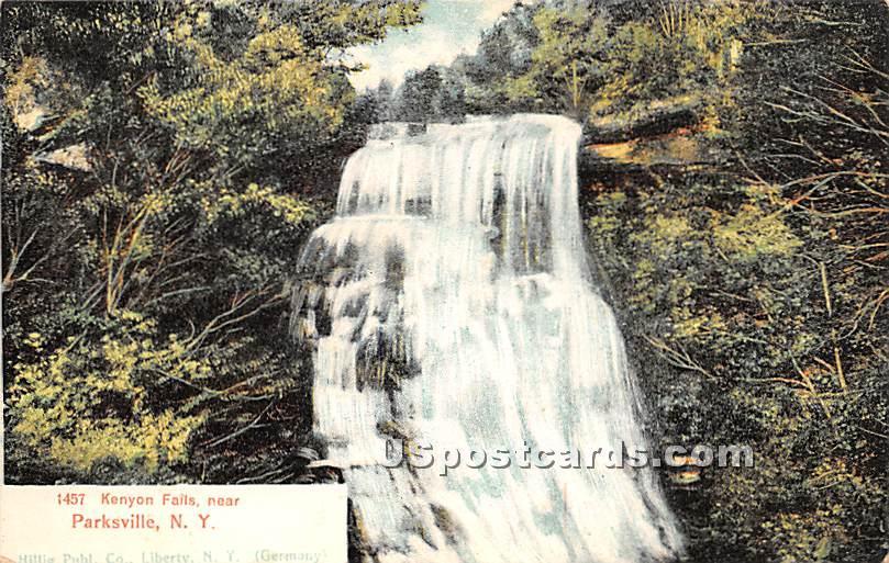 Kenyon Falls - Parksville, New York NY Postcard