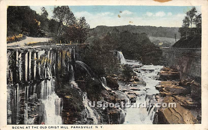Scene at the Old Grist Mill - Parksville, New York NY Postcard