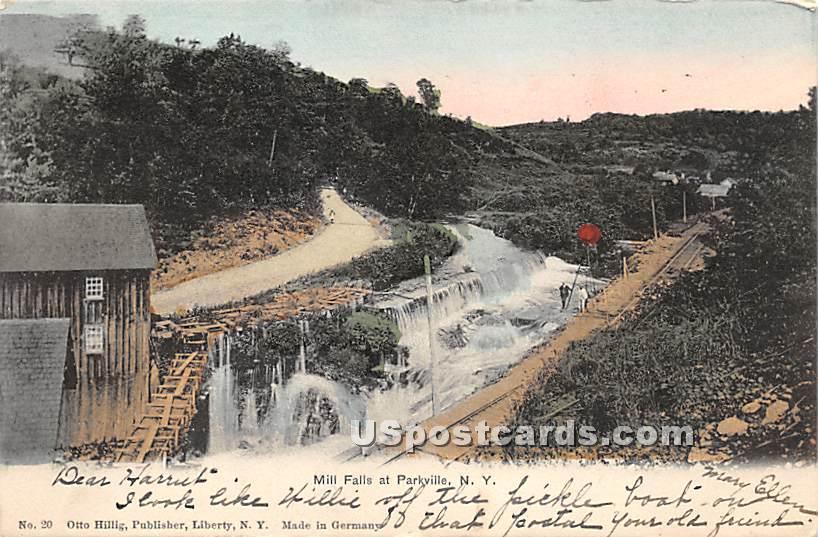 Mill Falls - Parksville, New York NY Postcard