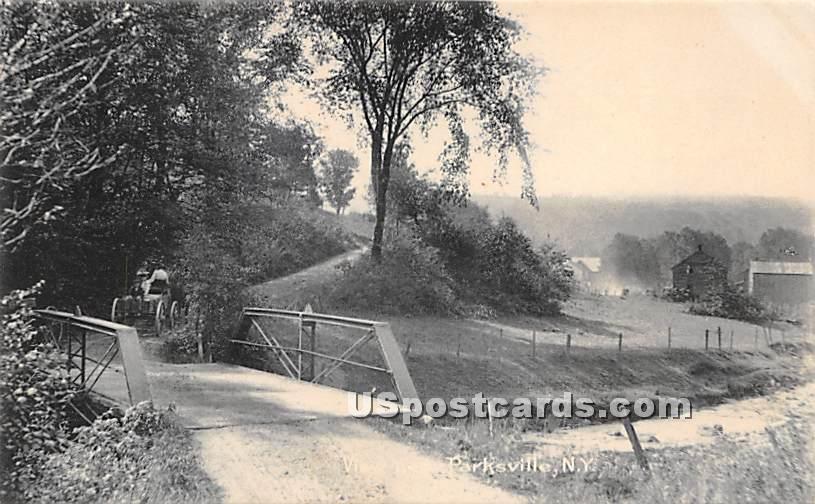 Bridge - Parksville, New York NY Postcard