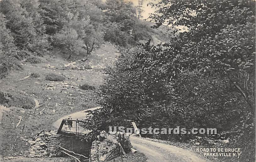 Road to De Bruce - Parksville, New York NY Postcard