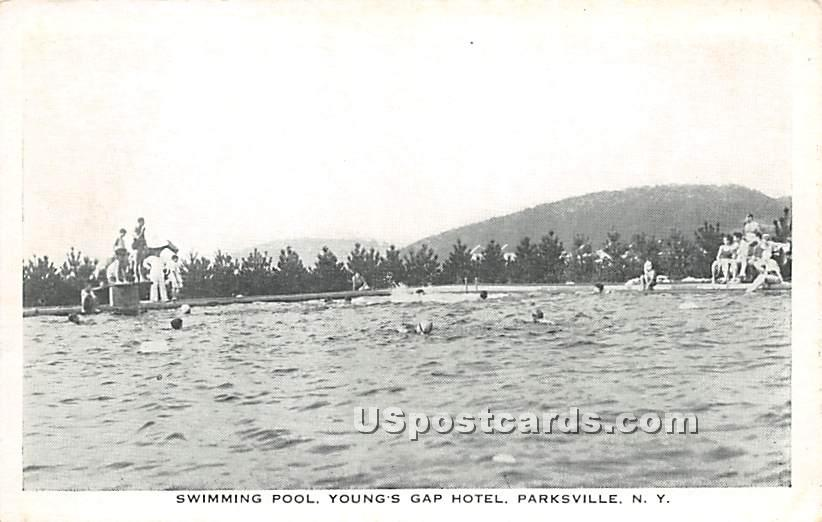 Swimming Pool - Parksville, New York NY Postcard