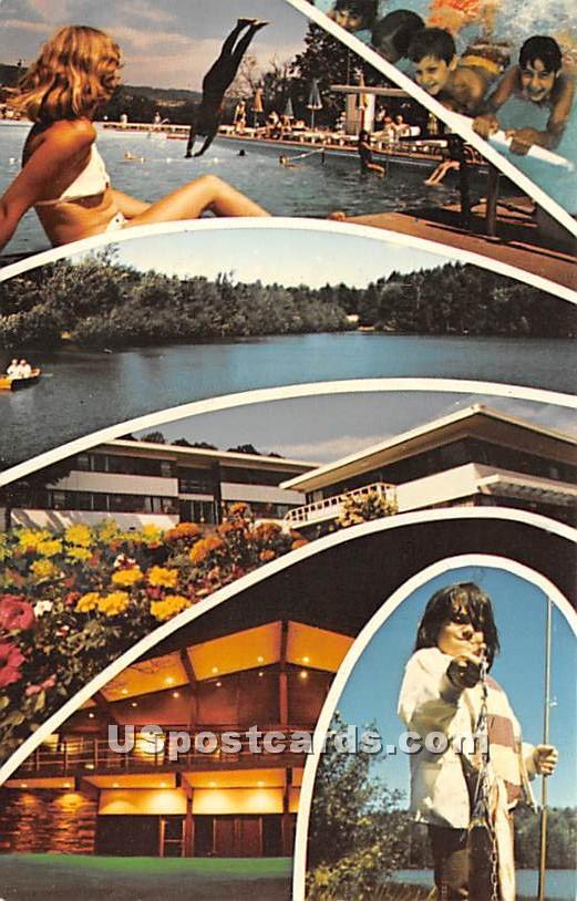 Gasthalter Family's Paramount Hotel - Parksville, New York NY Postcard