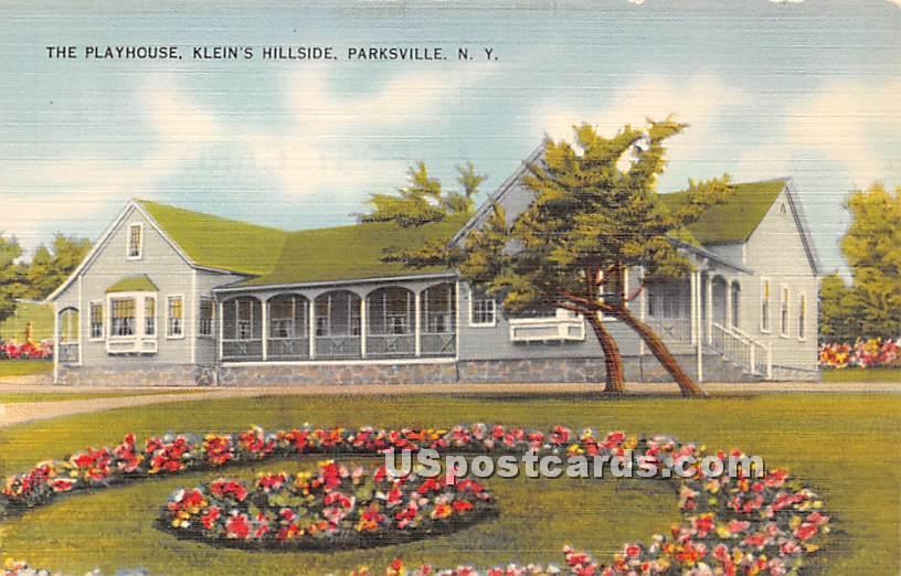 The Playhouse - Parksville, New York NY Postcard