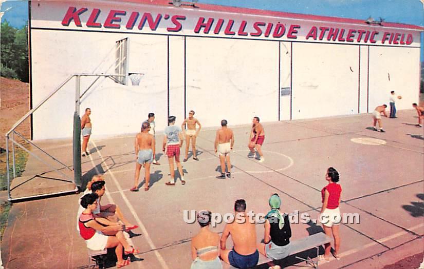 Klein's Hillside Athletic Field - Parksville, New York NY Postcard