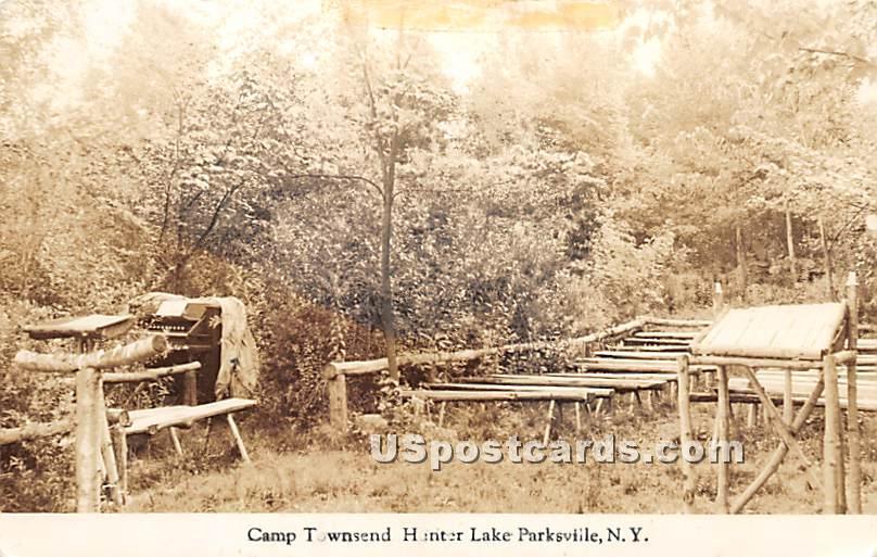 Camp Townsend Hunter Lake - Parksville, New York NY Postcard