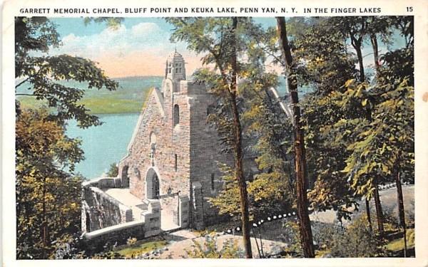 Garrett Memorial Chapel Penn Yan, New York Postcard