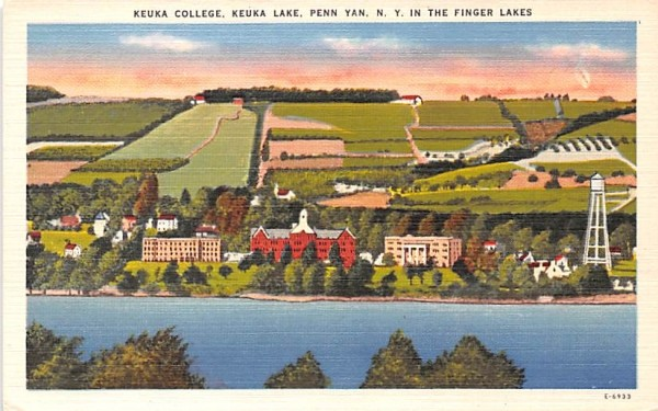 Keuka College Penn Yan, New York Postcard