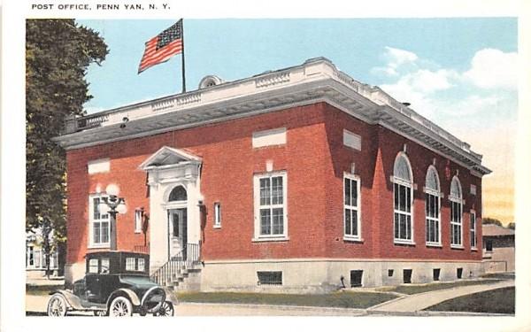 Post Office Penn Yan, New York Postcard