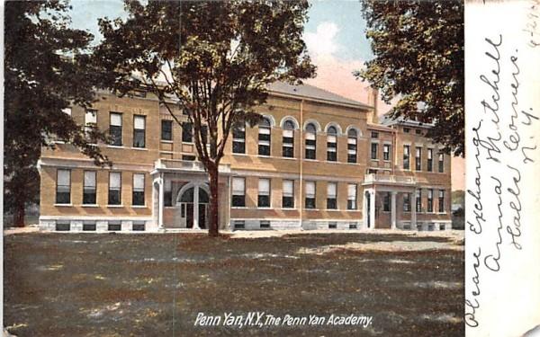 Penn Yan Academy New York Postcard