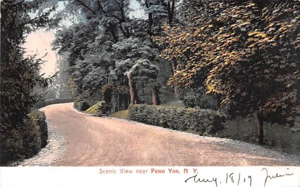 Scenic View Penn Yan, New York Postcard
