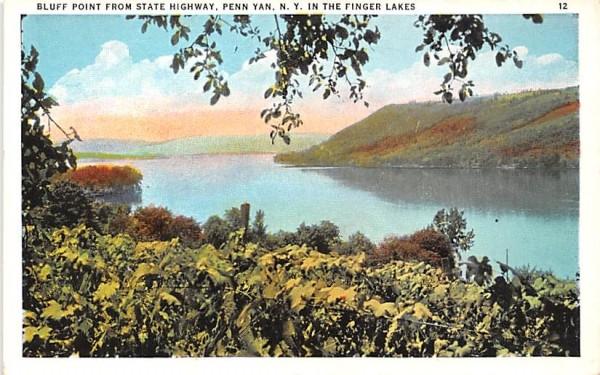 Bluff Point Penn Yan, New York Postcard