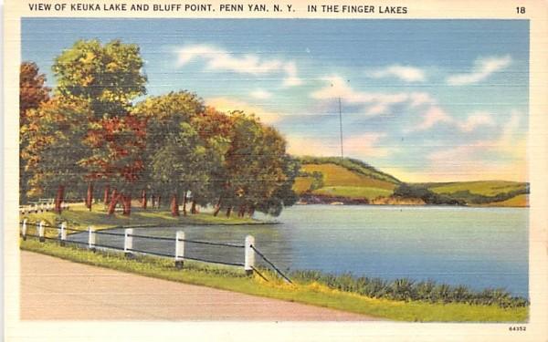 Keuka Lake Penn Yan, New York Postcard