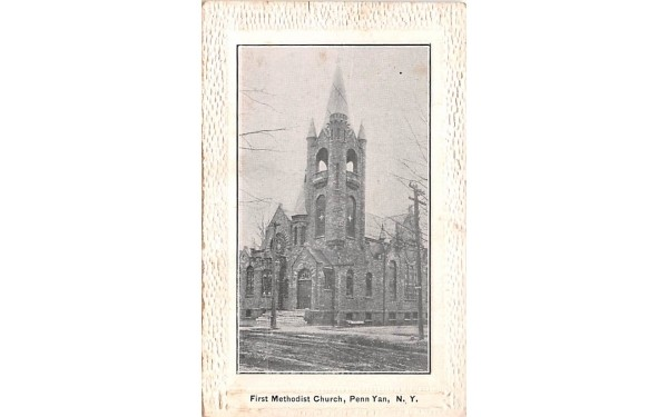 First Methodist Church Penn Yan, New York Postcard