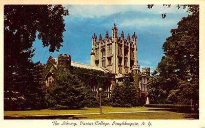 The Library Poughkeepsie, New York Postcard