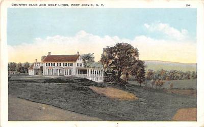 Country Club & Golf Links Port Jervis, New York Postcard