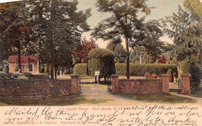Laurel Grove Cemetery Port Jervis, New York Postcard